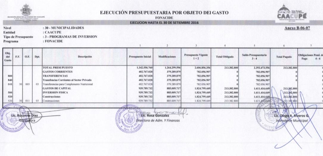CLIC AQUÍ PARA VER EN PDF - EJECUCIÓN DE GASTOS - FONACIDE