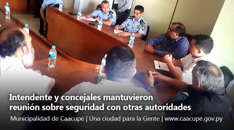 intendente reunion sobre seguridad