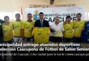 Municipalidad entregó atuendos deportivos a Selección Caacupeña de Fútbol de Salón Senior