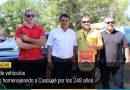 Desfile de vehículos antiguos homenajeando a Caacupé por los 248 años